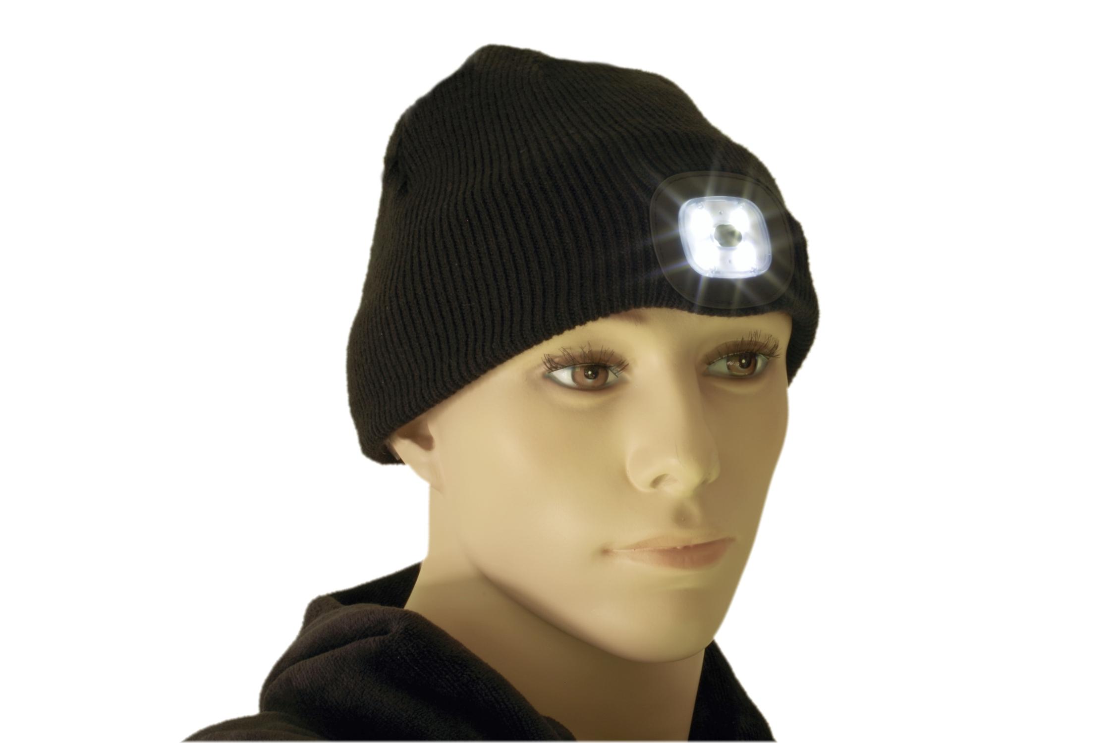 Czapka z oświetleniem LED
