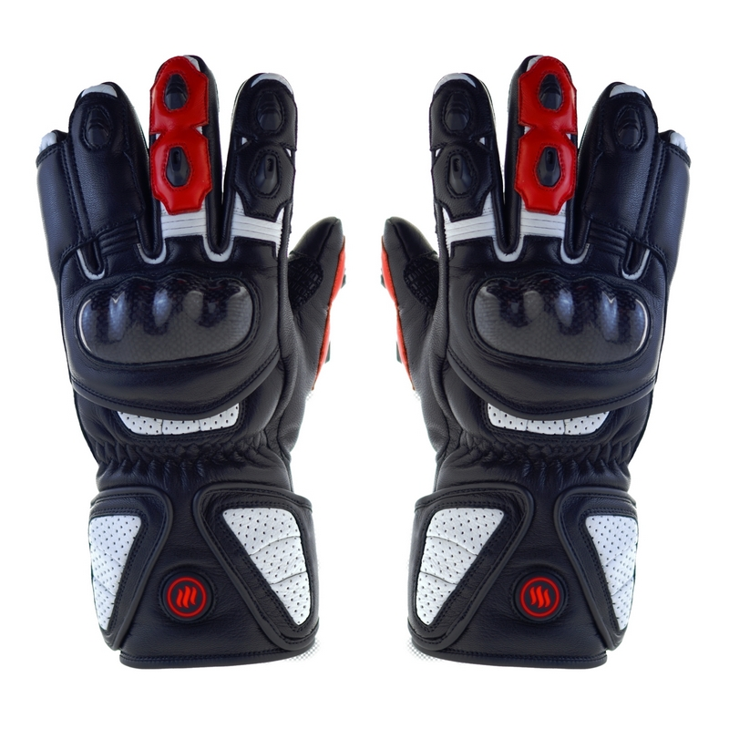 Heated motorcycle gloves, sizes: L, XL