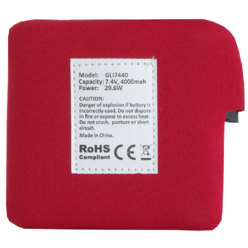 Battery for heated fleece vest