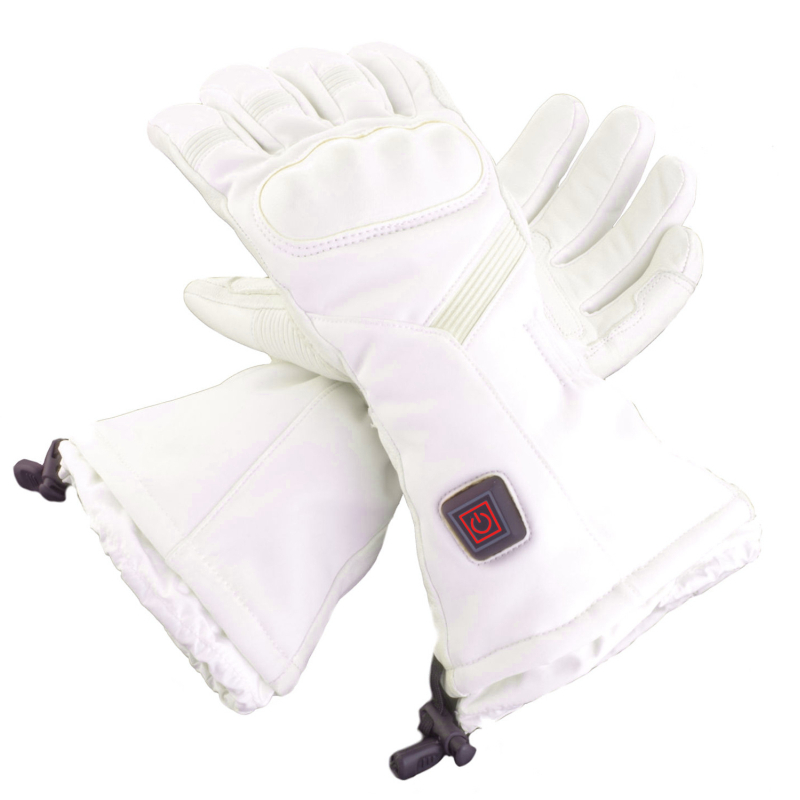 Heated ski gloves