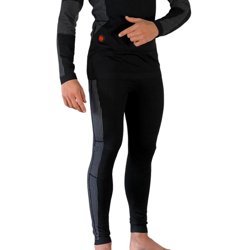 Ogrzewany zestaw bielizny termoaktywnej, bluza i spodnie