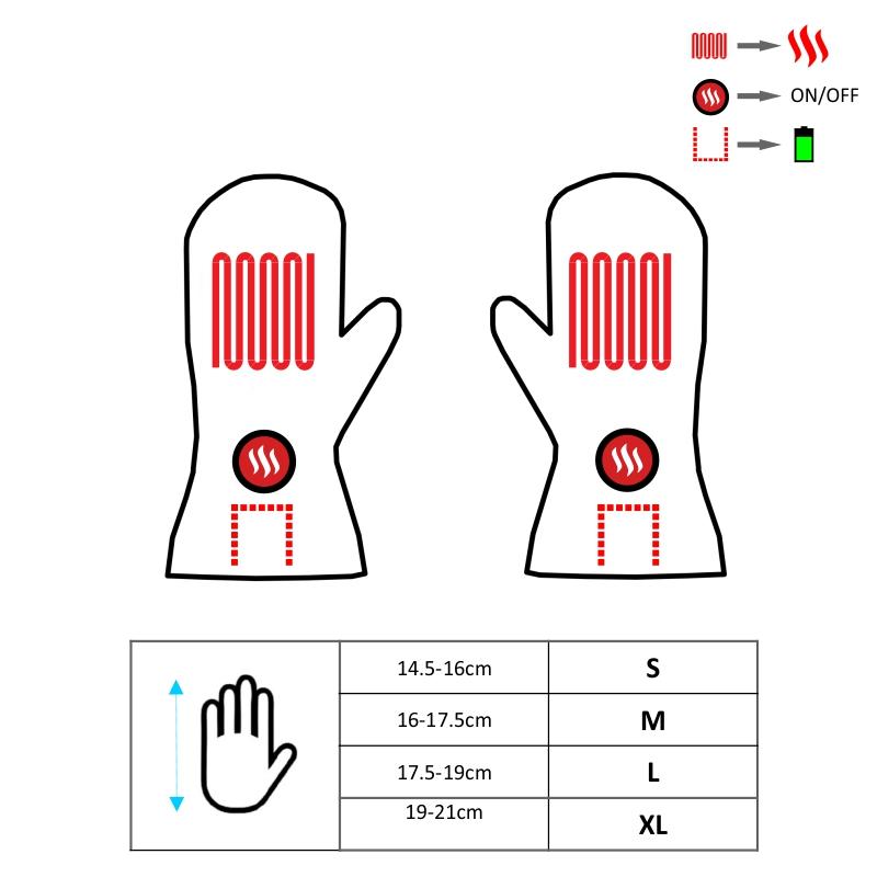 Ogrzewane rękawice z jednym palcem